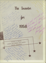Page 7, 1958 Edition, Edison High School - Inventor Yearbook (Fresno, CA) online yearbook collection