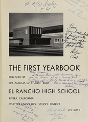 Page 5, 1953 Edition, El Rancho High School - Por El Ano Yearbook (Pico Rivera, CA) online yearbook collection