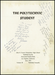 Page 5, 1953 Edition, John H Francis Polytechnic High School - Student Yearbook (Sun Valley, CA) online yearbook collection