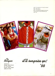 Page 5, 1988 Edition, Borger High School - Borgan Yearbook (Borger, TX) online yearbook collection