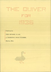 Page 6, 1936 Edition, Harding High School - Quiver Yearbook (Marion, OH) online yearbook collection