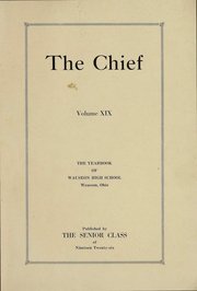 Page 2, 1926 Edition, Wauseon High School - Chief Yearbook (Wauseon, OH) online yearbook collection