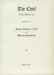 Page 7, 1928 Edition, Wauseon High School - Chief Yearbook (Wauseon, OH) online yearbook collection