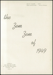 Page 5, 1949 Edition, Mount Healthy High School - Zem Zem Yearbook (Cincinnati, OH) online yearbook collection