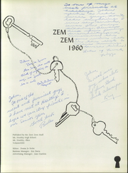 Page 5, 1960 Edition, Mount Healthy High School - Zem Zem Yearbook (Cincinnati, OH) online yearbook collection