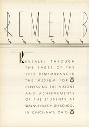 Page 6, 1935 Edition, Walnut Hills High School - Remembrancer Yearbook (Cincinnati, OH) online yearbook collection