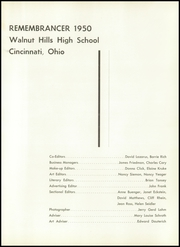 Page 5, 1950 Edition, Walnut Hills High School - Remembrancer Yearbook (Cincinnati, OH) online yearbook collection