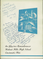 Page 5, 1952 Edition, Walnut Hills High School - Remembrancer Yearbook (Cincinnati, OH) online yearbook collection