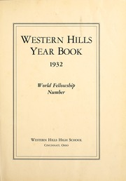 Page 5, 1932 Edition, Western Hills High School - Annual Yearbook (Cincinnati, OH) online yearbook collection