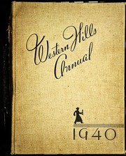Page 1, 1940 Edition, Western Hills High School - Annual Yearbook (Cincinnati, OH) online yearbook collection