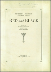 Page 5, 1923 Edition, Fostoria High School - Red and Black Yearbook (Fostoria, OH) online yearbook collection