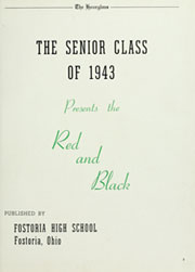 Page 7, 1943 Edition, Fostoria High School - Red and Black Yearbook (Fostoria, OH) online yearbook collection