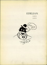 Page 5, 1933 Edition, Edward Drummond Libbey High School - Edelian Yearbook (Toledo, OH) online yearbook collection