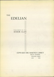 Page 7, 1933 Edition, Edward Drummond Libbey High School - Edelian Yearbook (Toledo, OH) online yearbook collection