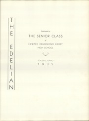 Page 7, 1935 Edition, Edward Drummond Libbey High School - Edelian Yearbook (Toledo, OH) online yearbook collection
