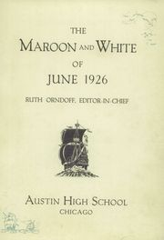 Page 3, 1926 Edition, Austin High School - Maroon and White Yearbook (Chicago, IL) online yearbook collection