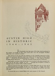 Page 9, 1945 Edition, Austin High School - Maroon and White Yearbook (Chicago, IL) online yearbook collection