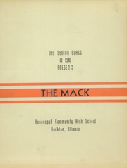 Page 3, 1940 Edition, Hononegah High School - Mack Yearbook (Rockton, IL) online yearbook collection
