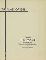 Page 5, 1941 Edition, Hononegah High School - Mack Yearbook (Rockton, IL) online yearbook collection