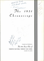 Page 5, 1951 Edition, Thornton Fractional North High School - Chronoscope Yearbook (Calumet City, IL) online yearbook collection
