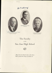 Page 13, 1926 Edition, San Jose High School - Bell Yearbook (San Jose, CA) online yearbook collection