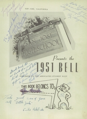Page 5, 1951 Edition, San Jose High School - Bell Yearbook (San Jose, CA) online yearbook collection