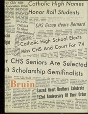 Catholic High School - Bruin Yearbook (Baton Rouge, LA) online yearbook collection, 1974 Edition, Page 1