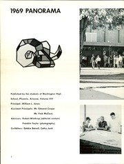 Page 6, 1969 Edition, Washington High School - Panorama Yearbook (Phoenix, AZ) online yearbook collection