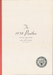Page 5, 1938 Edition, West High School - Panther Yearbook (Salt Lake City, UT) online yearbook collection