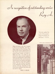 Page 10, 1939 Edition, West High School - Panther Yearbook (Salt Lake City, UT) online yearbook collection