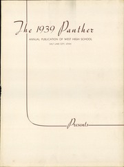 Page 5, 1939 Edition, West High School - Panther Yearbook (Salt Lake City, UT) online yearbook collection