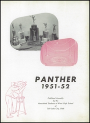 Page 5, 1952 Edition, West High School - Panther Yearbook (Salt Lake City, UT) online yearbook collection
