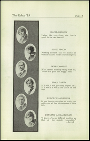 Page 14, 1915 Edition, Superior High School - Lacedaemon Yearbook (Superior, WI) online yearbook collection