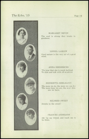 Page 16, 1915 Edition, Superior High School - Lacedaemon Yearbook (Superior, WI) online yearbook collection