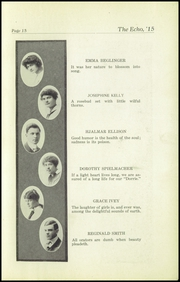 Page 17, 1915 Edition, Superior High School - Lacedaemon Yearbook (Superior, WI) online yearbook collection