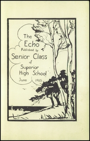 Page 5, 1915 Edition, Superior High School - Lacedaemon Yearbook (Superior, WI) online yearbook collection