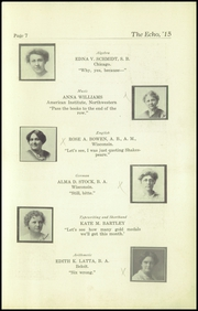 Page 9, 1915 Edition, Superior High School - Lacedaemon Yearbook (Superior, WI) online yearbook collection