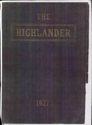 Page 1, 1927 Edition, Highland Park High School - Highlander Yearbook (Topeka, KS) online yearbook collection