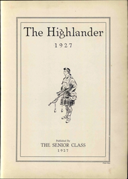 Page 7, 1927 Edition, Highland Park High School - Highlander Yearbook (Topeka, KS) online yearbook collection