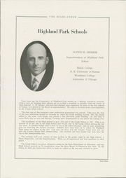 Page 13, 1929 Edition, Highland Park High School - Highlander Yearbook (Topeka, KS) online yearbook collection