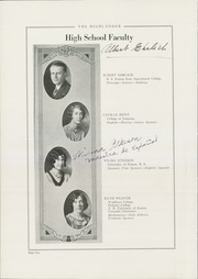Page 14, 1929 Edition, Highland Park High School - Highlander Yearbook (Topeka, KS) online yearbook collection