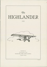 Page 5, 1929 Edition, Highland Park High School - Highlander Yearbook (Topeka, KS) online yearbook collection