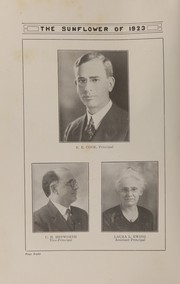 Page 10, 1923 Edition, Topeka High School - Sunflower Yearbook (Topeka, KS) online yearbook collection