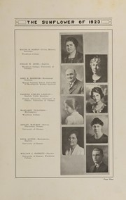 Page 13, 1923 Edition, Topeka High School - Sunflower Yearbook (Topeka, KS) online yearbook collection