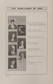 Page 14, 1923 Edition, Topeka High School - Sunflower Yearbook (Topeka, KS) online yearbook collection