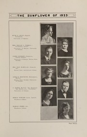 Page 15, 1923 Edition, Topeka High School - Sunflower Yearbook (Topeka, KS) online yearbook collection