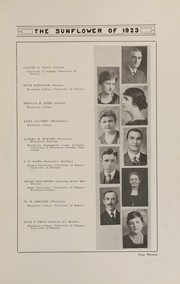 Page 17, 1923 Edition, Topeka High School - Sunflower Yearbook (Topeka, KS) online yearbook collection