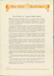 Page 14, 1931 Edition, Topeka High School - Sunflower Yearbook (Topeka, KS) online yearbook collection