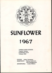 Page 7, 1967 Edition, Topeka High School - Sunflower Yearbook (Topeka, KS) online yearbook collection