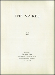 Page 9, 1935 Edition, Cathedral High School - Spires Yearbook (New York, NY) online yearbook collection